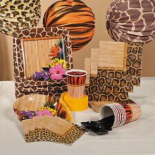8 x Safari...Jungle...Zoo..Party Plates...Giraffe...Hibiscus Flower Bamboo Print
