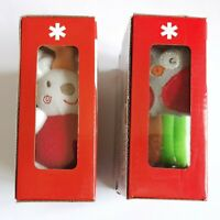 2× Baby Skip Hop Safari Bunny & Owl Puppet Rattle Squeaky Mirror Soft Books Toy