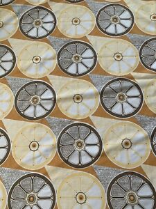 Vintage 1970s Geometric Sheet  Fabric,  Ideal For Dress Making  ,97 Cm By 133 Cm