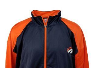 Denver Broncos Men's Navy/Orange NFL Majestic Full Zip Track Jacket Big & Tall