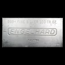 SPECIAL PRICE! 100 oz Silver Bar - Engelhard - SKU #166597