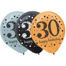 """30's 12"""" Latex [15ct] Balloon Birthday Decorations Party Supplies 30th Balloons"""