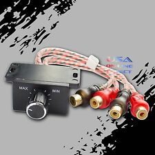 Universal Car Audio Remote Volume Control Knob Amplifier Bass Boost RCA Level US