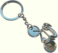 Bassin and Brown Unisex Cycling Key Ring - Silver