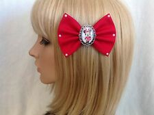 Minnie Mouse hair bow clip rockabilly pin up disney cute mickey girls red SALE