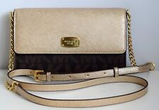 MICHAEL KORS Damen Tasche JET SET ITEM  LG PHONE CROSSBODY braun-gold PVC/Leder