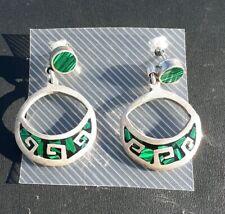 Vintage Hook Earrings Mexico Sterling Silver 925 Estate