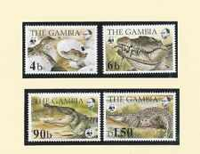 wwf stamps 1984 Gambia Krokodil Reptielen Bedreigde dieren