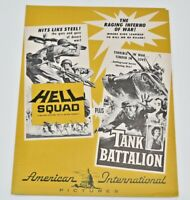 HELL SQUAD TANK BATALLION pressbook AIP Wally Campo Don Kelly, Marjorie Hellen 5