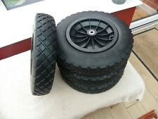 """4 x 14"""" Puncture Proof Solid wheels with twin ball bearings Trolley Cart Trailer"""