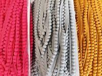 Crafts-Home Sewing-Dressmaking-Trimming-Decoration MINI POM POM-TRIM 3 Colours