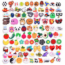 US Stock 100PCS PVC Shoes Charms Fruit Music Animal Ball fit Clogs Child Gifts