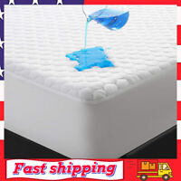 Premium Waterproof Bamboo Mattress Protector Queen Size for Cooling & Breathable