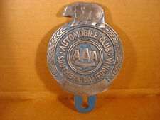 Automobile Club Bear License Plate FOB Topper Wall Car Motorcycle