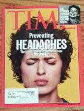 TIME MAGAZINE OCT0BER 7 2002 HEADACHES JOHN WALKER LINDH VG