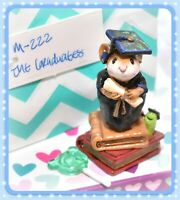 ❤️Wee Forest Folk M-222 The Graduates Mouse Black Gown Books Worm WFF❤️