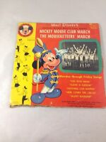 """Mickey Mouse Club March Monday Through Friday Songs 45RPM 7"""" Record 1955"""