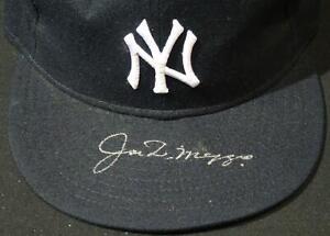 Joe DiMaggio New York Yankees Autographed Baseball Hat JSA