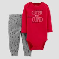 CARTER'S JUST ONE YOU Baby Boys' Cuter Than Cupid Arrows 2pc Set - Red Valentine