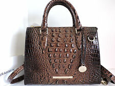 Brahmin Anywhere Convertible Satchel Brunello Croc Embossed Leather Tote Bag NWT