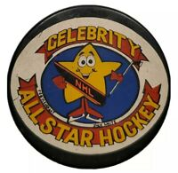 CELEBRITY NHL ALL STAR HOCKEY MASCOT RARE VINTAGE OFFICIAL HOCKEY PUCK