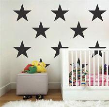 Large Bedroom Star Stickers, Big Star Wall Decals, Bedroom Star Set Vinyl, b31