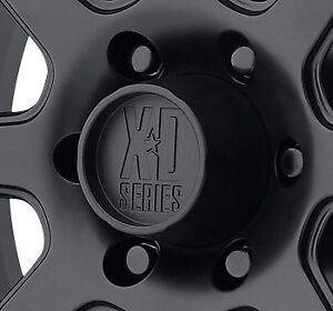 KMC XD301 Turbine Center Cap 1515006026 Satin Black fits 8x165 Chevy Dodge Wheel