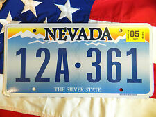 NEVADA license licence plate plates USA NUMBER AMERICAN REGISTRATION
