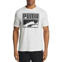 Puma Mens Contrast White Running Fitness T-Shirt Athletic XL BHFO 7904