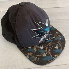 San Jose Sharks Reebok NHL Team Logo Stretch Fit Hockey Cap Hat