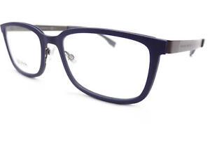 HUGO BOSS +0.25 to +3.50 Reading Glasses Matte Blue / Ruthenium 0726 KDN