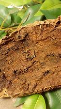 ORNAMENTADO ORO tribal indio falso tabique anillo transparente Nariz Clip en Goa Hippy