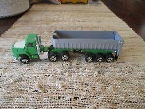 """ERTL Freightliner Semi Truck with Tilt Grain Hauler Open Trailer Farm 1:64th  7"""""""
