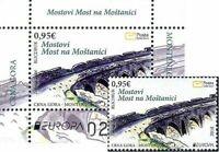 MONTENEGRO / 2018, (BLOCK+STAMP SET) EUROPA CEPT (BRIDGES), MNH