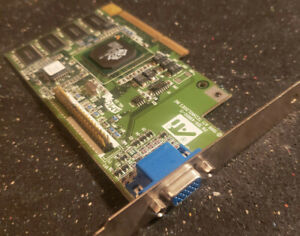 ATi Rage Pro Turbo 3D 109-49800-11 Xpert 98 AGP 8MB Video Graphics Card Adapeter