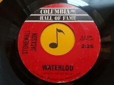 STONEWALL JACKSON ~Waterloo ~ 45's record ~ CLASSIC COUNTRY 1959 ~ VG+ or better