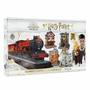 Harry Potter Hogwarts Express and Diagon Alley 3D Puzzle 453pcs Building Toy Gif
