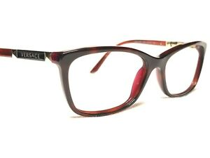 Versace MOD3186 5184 Womens Red & Gold Cats Eye Rx Eyeglasses Frames 54/16~140