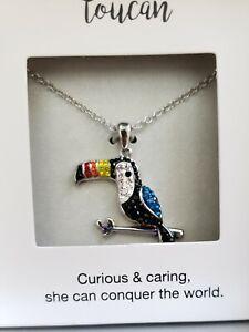 New Silver Toucan Bird Necklace
