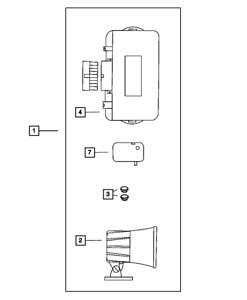 Genuine MOPAR Alarm Evs Ll Module Kit 82300985