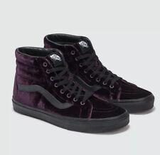 Purple Velvet Hi-Top Old Skool Vans Uk Size 7