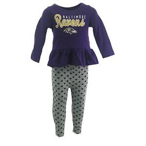 Baltimore Ravens Official NFL Toddler Girls Size Long Sleeve Shirt & Pants Set