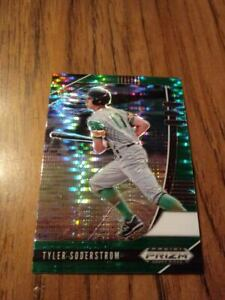 "2020 Prizm Draft ""Green Pulsar Prizm"" Tyler Soderstrom NM Oakland Athletics"