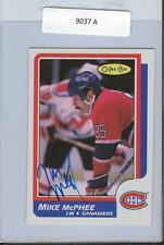 Mike McPhee 1986 OPC Autograph #221 Canadiens