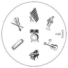 Konad stamping galería de símbolos m58 plate Nails Nail Art Stamp