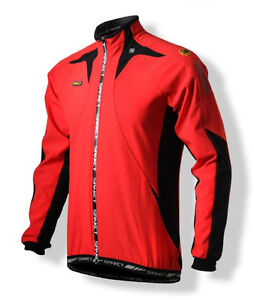 Spakct Fleece Windproof Cycling Velvet Jacket C6 Red/Black XXL Sun Protective