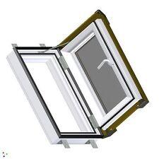 DACHFENSTER AUSSTIEGSFENSTER SKYLIGHT 55x78 Kunststoff mit Eindeckrahmen LINKS