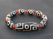 Long Tibetan 8 3-eye Big 9-eye Agate dZi Beads Beaded Bracelet -Strong Energy!