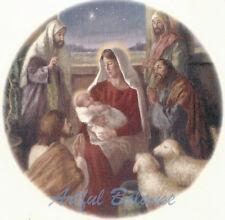 Ceramic Decals Christmas Holiday Nativity Scene B