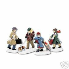 """Dept. 56 Christmas In The City """"Busy City Sidewalks"""" -Set Of 4 -New -Mib"""